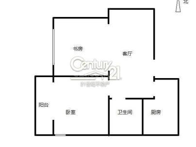 海富公寓 2室 1厅 81平米