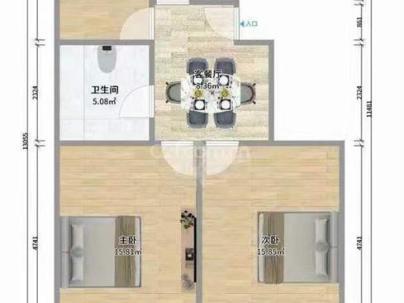 金海华城恒裕嘉苑 2室 1厅 75.58平米