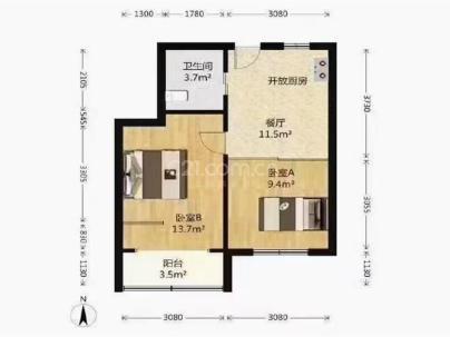 公房[长宁遵义路] 2室 1厅 55.57平米
