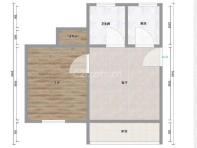 鹏欣家园 1室 2厅 71平米