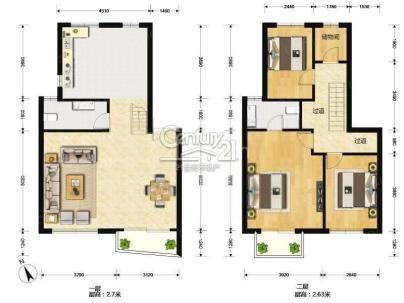 万科城市花园[11区紫薇苑] 3室 2厅 167平米