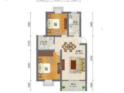 宝平苑 2室 2厅 86平米