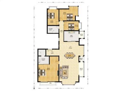 山水文园五期(东B) 4室 2厅 277.09平米
