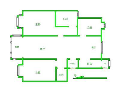北京城建琨廷 3室 2厅 143.94平米