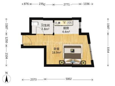 新景家园东区 1室 1厅 42.93平米