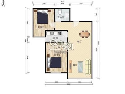保利春天里 2室 1厅 85平米