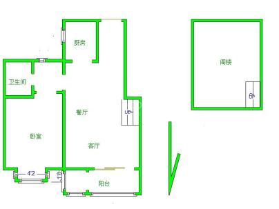 腾龙家园三区 1室 2厅 67.68平米