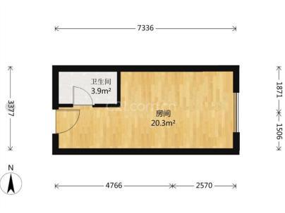 东亚尚品台湖 1室 1厅 40平米