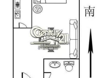 富力尚悦居 1室 1厅 57.14平米