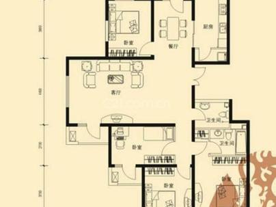 万年花城 4室 2厅 158.37平米