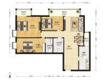 康泽园 3室 1厅 141平米