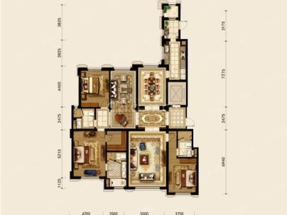 橡树湾五期 4室 2厅 236.4平米