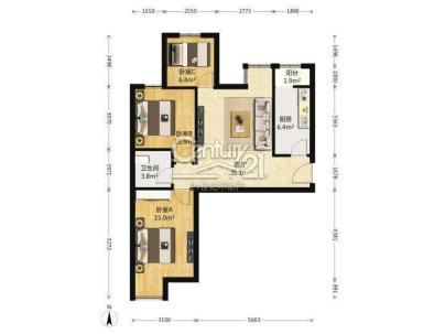 首城双景 2室 2厅 200平米