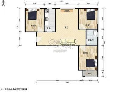 新城乐居 3室 1厅 93.75平米