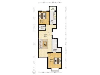 瑞雪春堂二里 2室 2厅 88.22平米