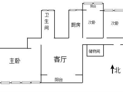 翠城馨园(翠成馨园) 2室 1厅 108平米