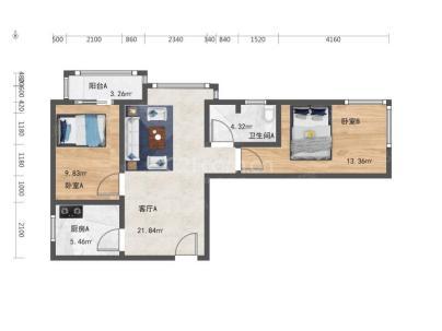 沿海赛洛城(美利山) 2室 1厅 85.95平米