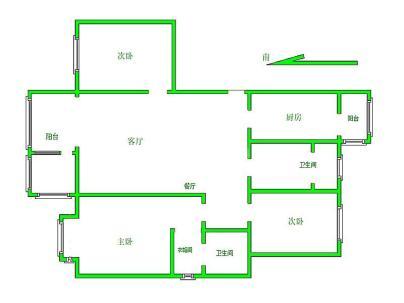腾龙家园三区 3室 2厅 141.13平米