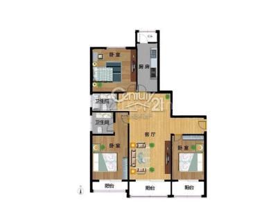 锦秋知春 3室 2厅 164.69平米