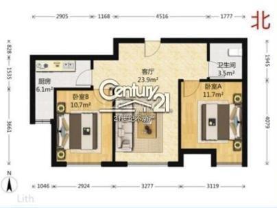 融科香雪兰溪 2室 1厅 86平米