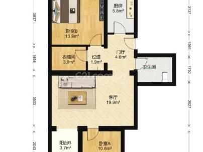 幸福二村 2室 2厅 97.73平米