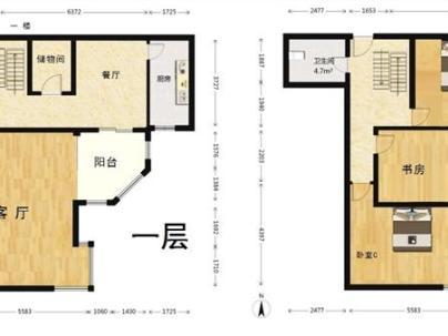 美景东方 2室 2厅 105.64平米
