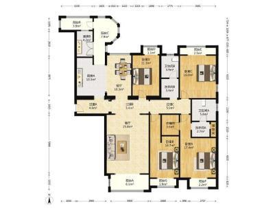 中海紫御公馆 4室 2厅 207.44平米