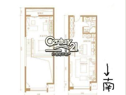 合生世界花园 1室 1厅 68平米