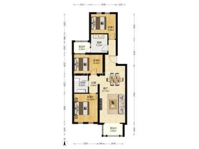 瀛景园 2室 2厅 98.77平米