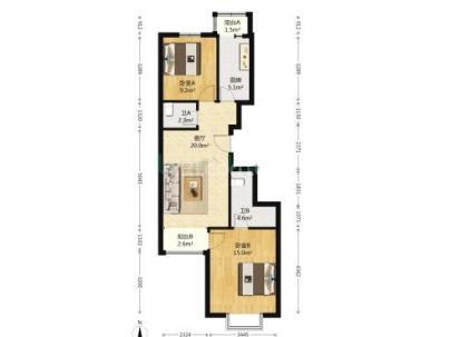 瑞雪春堂二里 2室 1厅 89平米