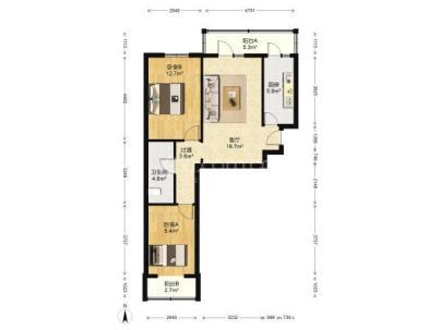 小康家园 2室 1厅 90平米