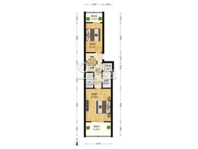 蓟门里北区 2室 1厅 49.3平米