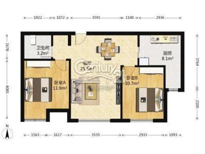 融科钧廷 2室 1厅 79.92平米