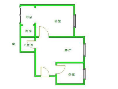 迎风五里 3室 1厅 61.12平米