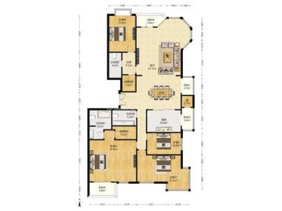 山水文园四期(西园) 4室 3厅 279.95平米