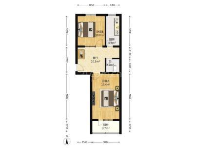 永泰东里 2室 1厅 59.89平米