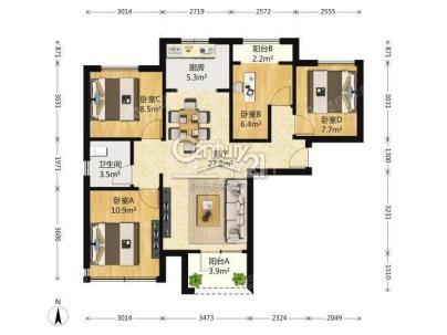 保利春天里 4室 1厅 96.98平米
