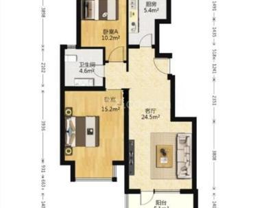 北京城建琨廷 2室 1厅 88.53平米