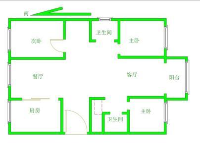 北京城建琨廷 3室 2厅 115.41平米