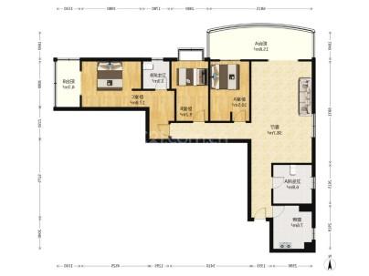 阳光都市 3室 2厅 145.34平米