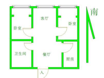 铜山黄河小区 2室 2厅 89平米
