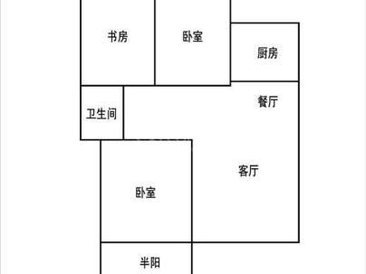 香榭兰庭 3室 1厅 90平米