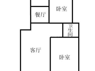 郡望花园 2室 2厅 84.16平米