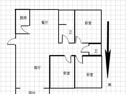 风华南苑 3室 2厅 147平米