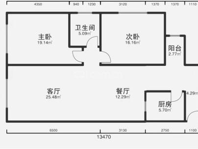 都英新世纪广场 3室 2厅 76.63平米