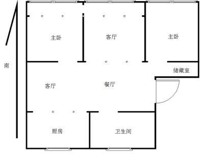 富源花园 3室 2厅 122平米