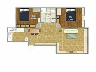 御峰名苑 2室 2厅 110平米