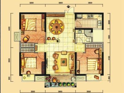 华强城4期 3室 2厅 109平米