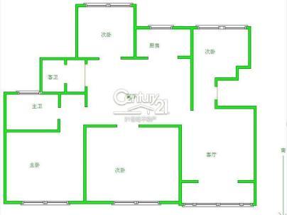 华强城1期 3室 2厅 147平米