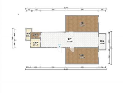 税务局家属院(光辉路) 3室 1厅 75.6平米